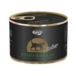DOLINA NOTECI NATURAL TASTE CAT JUNIOR BOGATA W KRÓLIKA 185G