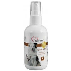 OVER ZOO WHITE SPRAY PŁYN 100ML USUWA ZAŻÓŁCENIA PLAMY PIES KOT