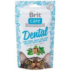 BRIT CARE CAT SNACK DENTAL 50 G ZDROWE ZĘBY KOTA