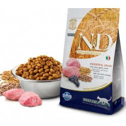 FARMINA N&D LOW GRAIN LAMB&BLUEBERRY ADULT CAT LUZ