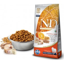 FARMINA N&D LOW ANCESTRAL GRAIN FELINE  CODFISH & ORANGE ADULT MAXI 1 KG NA WAGĘ DORSZ