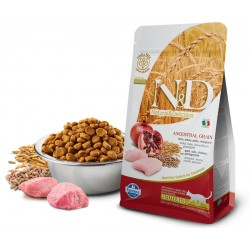 FARMINA N&D LOW ANCESTRAL GRAIN CHICKEN & POMEGRANATE NEUTERED CAT 1 KG NA WAGĘ KURCZAK