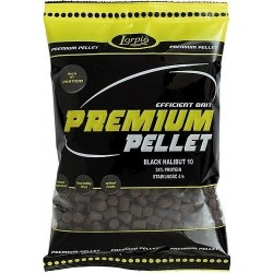 LORPIO PREMIUM PELLET BLACK HALIBUT 6MM 700G LO510