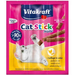 VITAKRAFT CAT STICK MINI 3SZT DRÓB/WĄTRÓBKA