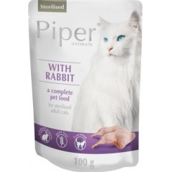 DOLINA NOTECI 100G PIPER STERILISED KRÓLIK CAT