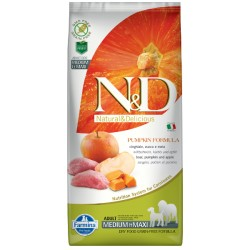 N&D PUMPKIN BOAR & APPLE ADULT MED/MAXI LUZ