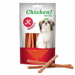 JK ANIMALS MEAT SNACK 80G CHICKEN STICKS 44970