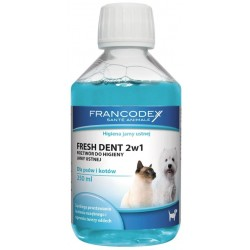 FRANCODEX FRESH DENT 2W1 250 ML PŁYN DO HIGIENY JAMY USTNEJ PSA I KOTA 179120