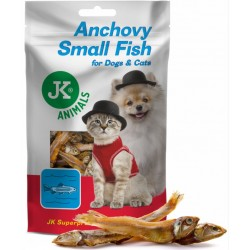 JK ANIMALS MEAT SNACK SMALL ANCHOVY FISH 80G SUSZONE SARDELE, PRZYSMAK DLA PSA I KOTA 44976