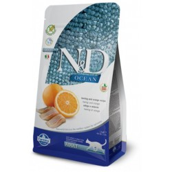 FARMINA N&D OCEAN CAT HERRING & ORANGE ADULT 1 KG NA WAGĘ ŚLEDŹ