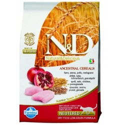 FARMINA N&D LOW GRAIN CHICKEN POMEGRANATE STERILISED CAT 1,5 KG