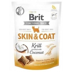 BRIT CARE DOG SKIN COAT KRILL 150 SKÓRA I SIERŚĆ KOKOS FUNCTIONAL SNACK