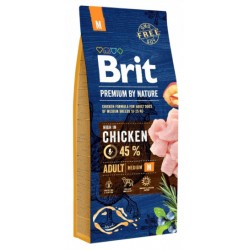 BRIT PREMIUM BY NATURE ADULT MEDIUM DOG 1 KG NA WAGĘ Z KURCZAKIEM